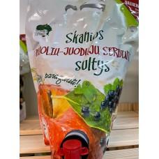 Natūralios obuolių sultys su juodais serbentais 1.4 l